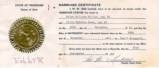 knox county marriage certificate